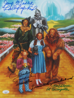 """The Wizard Of Oz"" 11x14.25 Photo Cast-Signed by (3) with Mickey Carroll, Jerry Maren, Karl Slover Inscribed ""1st Trumpeter"", ""Follow The Yellow Brick Road"", ""Munchkin Love"" (JSA COA) at PristineAuction.com"