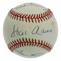 Hank Aaron, Willie Mays & Eddie Murray Signed 3500 Club ONL LE Baseball (JSA LOA) (See Description) at PristineAuction.com
