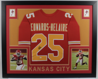 Clyde Edwards-Helaire Signed 35x43 Custom Framed Jersey (Beckett COA) at PristineAuction.com