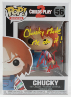"Alex Vincent Signed ""Child's Play 2"" #56 Chucky Funko Pop! Vinyl Figure Inscribed ""Chucky Made Me Do It!"" & ""Andy"" (Beckett COA) at PristineAuction.com"
