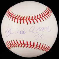 "Hank Aaron Signed OML Baseball Inscribed ""755"" (JSA LOA) at PristineAuction.com"