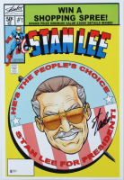 Stan Lee Signed 13x19 Photo (Beckett COA) at PristineAuction.com
