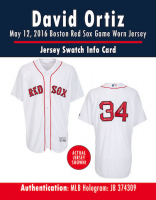 DAVID ORTIZ 2016 BOSTON RED SOX  GAME-WORN JERSEY MYSTERY SWATCH BOX! at PristineAuction.com