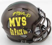 Marquez Valdes-Scantling Signed Packers Custom Logo Speed Mini Helmet (Beckett COA) at PristineAuction.com