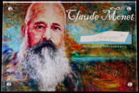 Claude Monet Authentic Hand-Written Word Cut in Acrylic Display Case (JSA LOA) at PristineAuction.com