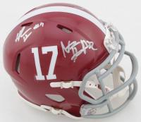 Alabama Crimson Tide Speed Mini Helmet Signed By (4) with Tua Tagovailoa, Jerry Jeudy, Najee Harris, & Henry Ruggs (Beckett Hologram) at PristineAuction.com