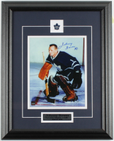 Johnny Bower Signed Maple Leafs 15.5x19.5 Custom Framed Photo Display (COJO COA) at PristineAuction.com