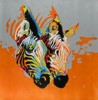 """Rodney Weng - """"Double Delight"""" 29x30 Original Oil Panting on Linen (PA LOA) at PristineAuction.com"""