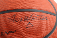 Lakers Coaches & Announcers Official NCAA Basketball Multi-Signed by (4) with Phil Jackson, Tex Winter, Chick Hearn & Stu Lantz (Beckett LOA) at PristineAuction.com