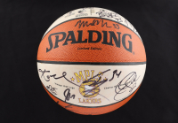 2000-01 Lakers NBA Championship LE Basketball Team-Signed by (15) with Kobe Bryant, Shaquille O'Neal, Horace Grant, Brian Shaw, Slava Medvedenko (Beckett LOA) at PristineAuction.com