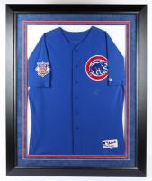 Derrek Lee Signed Cubs 37.5x45.5 Custom Framed Jersey Display (Steiner COA) (See Description) at PristineAuction.com