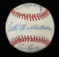 500 Home Run Club OAL Baseball Signed by (15) with Ted Williams, Mickey Mantle, Ernie Banks, Willie McCovey, Hank Aaron, Reggie Jackson (PSA LOA) at PristineAuction.com