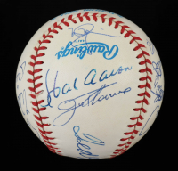500 Home Run Club OAL Baseball Signed by (15) with Ted Williams, Mickey Mantle, Ernie Banks, Willie McCovey, Hank Aaron, Reggie Jackson (PSA LOA) (See Description) at PristineAuction.com