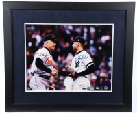 Derek Jeter & Cal Ripken Jr. Signed 25x29 Custom Framed Photo Display (Steiner COA & MLB Hologram) at PristineAuction.com