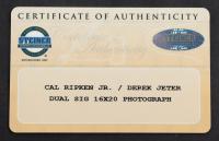 Derek Jeter & Cal Ripken Jr. Signed 25x29 Custom Framed Photo Display (Steiner COA & MLB Hologram) at PristineAuction.com