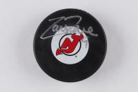 Zach Parise Signed Devils Logo Hockey Puck (Steiner Hologram) (See Description) at PristineAuction.com