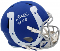 Jonathan Taylor Signed Colts Full-Size AMP Alternate Speed Helmet (Fanatics Hologram) at PristineAuction.com