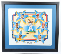 Bally's Las Vegas 25th Anniversary MLB Greats 31x35 Custom Framed Poster Display Signed by (7) with Reggie Jackson, Duke Snider, Pete Rose (Steiner COA) (See Description) at PristineAuction.com