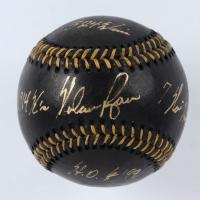 Nolan Ryan Signed OML Black Leather Baseball with (4) Career Stat Inscriptions (AIV COA & Ryan Hologram) at PristineAuction.com