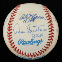 300 Wins Club OAL Baseball Team-Signed by (8) with Nolan Ryan, Tom Seaver, Warren Spahn, Don Sutton, Early Wynn, Steve Carlton, Phil Niekro with (8) Wins Inscriptions (AIV COA) (See Description) at PristineAuction.com