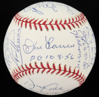 MLB Perfect Game Pitchers OML Baseball Signed by (16) with David Cone, David Wells, Don Larsen, Mike Witt, Randy Johnson, Sandy Koufax, Roy Halladay with Multiple Inscriptions (PSA LOA) at PristineAuction.com