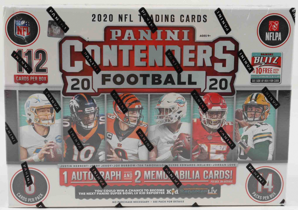 2020 Panini Contenders Football Mega Box with (14) Packs at PristineAuction.com