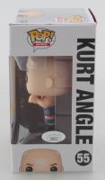 "Kurt Angle Signed WWE #55 Funko Pop! Vinyl Figure Inscribed ""WWE HOF '17"" (JSA COA) at PristineAuction.com"