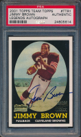Jimmy Brown 2001 Topps Team Topps Legends Autographs #TTR1 (PSA Authentic) at PristineAuction.com