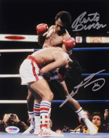 Sugar Ray Leonard & Roberto Duran Signed 8x10 Photo (PSA Hologram) at PristineAuction.com