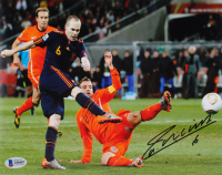 Andres Iniesta Signed Team Spain 8x10 Photo (Beckett COA) at PristineAuction.com