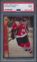 Patrick Kane 2007-08 Upper Deck #210 YG RC (PSA 9) at PristineAuction.com