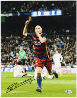 Andres Iniesta Signed FC Barcelona 11x14 Photo (Beckett COA) (See Description) at PristineAuction.com