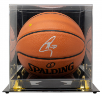 Stephen Curry Signed NBA Game Ball Series Basketball with Display Case (Beckett LOA) at PristineAuction.com