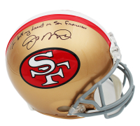 "Joe Montana Signed San Francisco 49ers Full-Size Authentic On-Field Helmet Inscribed ""I Left My Heart in San Francisco"" (Fanatics Hologram) at PristineAuction.com"