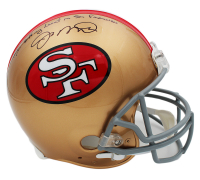 """Joe Montana Signed San Francisco 49ers Full-Size Authentic On-Field Helmet Inscribed """"I Left My Heart in San Francisco"""" (Fanatics Hologram) at PristineAuction.com"""