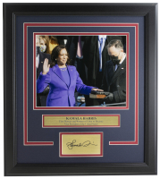 Kamala Harris 16x19 Custom Framed Photo Display at PristineAuction.com
