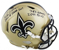 Morten Andersen Signed Saints Authentic On-Field Full-Size Helmet With Multiple Inscriptions (Radtke COA) at PristineAuction.com