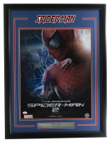 "Stan Lee Signed ""The Amazing Spider-Man 2"" 24x30 Custom Framed Poster Display (JSA COA & Lee Hologram) at PristineAuction.com"