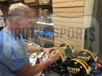 Brett Favre Signed Southern Miss Golden Eagles Authentic On-Field Full-Size Helmet (Radtke COA) at PristineAuction.com