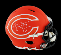 Mitchell Trubisky Signed Chicago Bears Authentic On-Field AMP Alternate Full-Size Speed Helmet (Fanatics Hologram) at PristineAuction.com