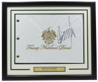 Donald Trump Signed 20x30 Custom Framed Golf Flag Display (JSA COA) at PristineAuction.com