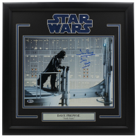 """Dave Prowse Signed """"Star Wars"""" 16x24 Custom Framed Photo Display Inscribed """"Darth Vader"""" (Beckett COA) at PristineAuction.com"""