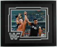 Mike Tyson Signed WWE 18x22 Custom Framed Photo Display (Fiterman Hologram) at PristineAuction.com