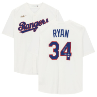 "Nolan Ryan Signed Rangers Jersey Inscribed ""H.O.F. '99"" (Fanatics Hologram) at PristineAuction.com"