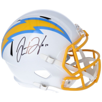 Justin Herbert Signed Chargers Full-Size Speed Helmet (Fanatics Hologram) at PristineAuction.com