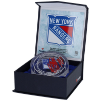 Artemi Panarin Signed Rangers 2019-2020 NHL Season Game-Used Ice Crystal Puck (Fanatics Hologram) at PristineAuction.com