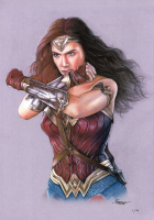 Thang Nguyen - Wonder Woman - Gal Gadot - DC Comics - 8x12 Signed Limited Edition Giclee on Fine Art Paper #/50 at PristineAuction.com