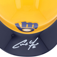Christian Yelich Signed Brewers Full-Size Batting Helmet (Fanatics Hologram) at PristineAuction.com
