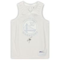 Stephen Curry Signed Warriors MVP White Jersey (Fanatics Hologram) at PristineAuction.com