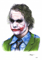 """Thang Nguyen - The Joker - Heath Ledger - Batman """"The Dark Knight"""" - DC Comics - 8x12 Signed Limited Edition Giclee on Fine Art Paper #/50 at PristineAuction.com"""